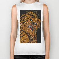 chewbacca Biker Tanks featuring Chewbacca by Laura-A