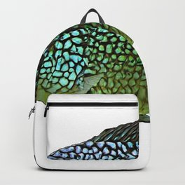 Rio Grande Cichlid Fish Gills Emerald Green Blue Sky Backpack