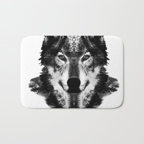 The Black Forest Wolf Bath Mat
