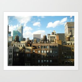 NYC Water Towers Art Print