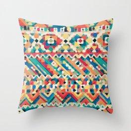 an aztec pattern.  Throw Pillow