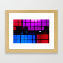 Light up Blocks Framed Art Print