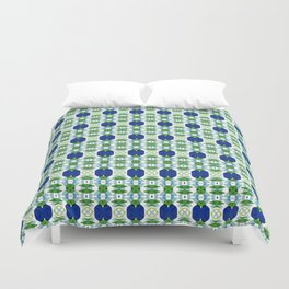 Blue Sapphires - this design goes well with Blue and Green Calm Duvet Cover