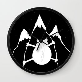 Mountains Cats Wall Clock