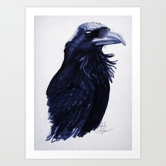.Raven Art Print
