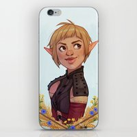 dragon age inquisition iPhone & iPod Skins featuring Dragon Age Inquisition: Sera by Elies Indigne
