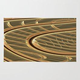 modern metalArt Rug