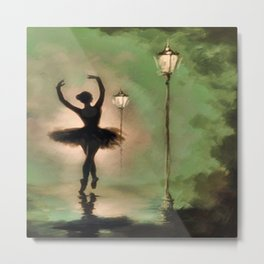 Dancing Silhouette Metal Print