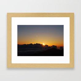 Crater Sunrise Framed Art Print