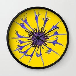 Thin blue flames Wall Clock