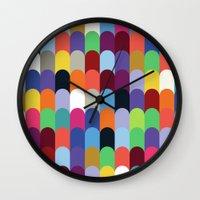 onward Wall Clocks featuring Onward Series: Soirée by Designer Ham