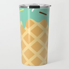 Mint Ice Cream with Sprinkles Travel Mug