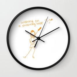 Wishing on a Shooting Shoe Wall Clock