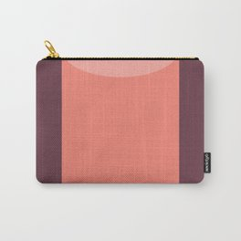 Cylinder Burgundy Pink Carry-All Pouch