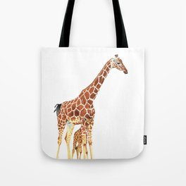 Giraffe Art - A Mother's Love - By Sharon Cummings Tote Bag