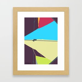 Kite—Aubergine Framed Art Print