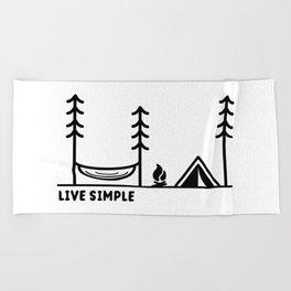 Live Simple Beach Towel