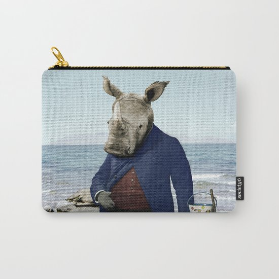 Mr. Rhino's Day at the Beach Carry-All Pouch
