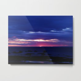 Purple Sunset over Sea Metal Print