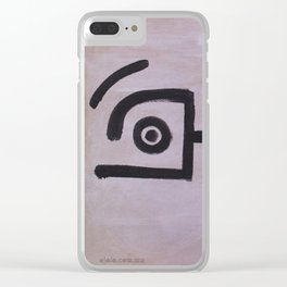 signo 1 negro Clear iPhone Case