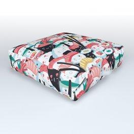 Kawaii Sushi Crowd Outdoor Floor Cushion