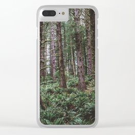Forest Dark, Forest Deep III Clear iPhone Case