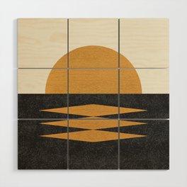Sunset Geometric Wood Wall Art