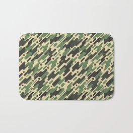 Modern Camouflage Green Forest Army Pattern Bath Mat