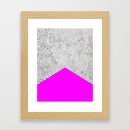 Concrete Arrow - Neon Purple #728 Framed Art Print
