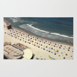 Tel-Aviv beach at summer, high from above, Israel, scaned sx-70 Polaroid Rug