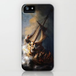Rembrandt's The Storm on the Sea of Galilee iPhone Case