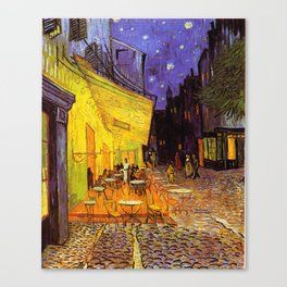Vincent Van Gogh Cafe Terrace At Night Canvas Print