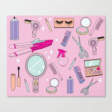 Beauty School Drop Out Pattern Canvas Print