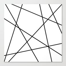 Lines in Chaos II - White Canvas Print