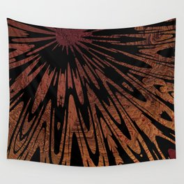 Native Tapestry in Burnt Umber Wall Tapestry