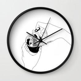 canned mermaid Wall Clock