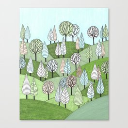 Little Cottage in the Woods Canvas Print