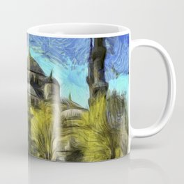 Blue Mosque Istanbul Art Coffee Mug