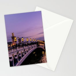 Sunset over Paris Bridge (Color) Stationery Cards