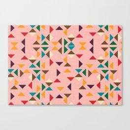 Triangle mod pink Canvas Print