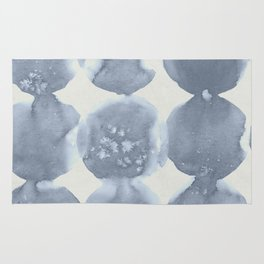 Shibori Wabi Sabi Indigo Blue on Lunar Gray Rug
