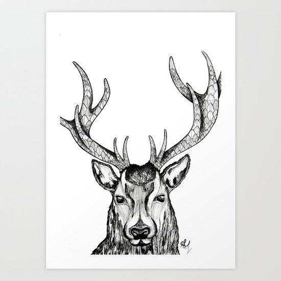 Ole Dear! Art Print