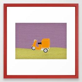 Enjoy The Ride Truck Framed Art Print