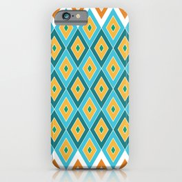 Diamond Pattern in Tropical Colours iPhone Case