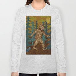 Bigfoot birthday card Long Sleeve T-shirt