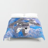 astronaut Duvet Covers featuring Astronaut  by Saundra Myles