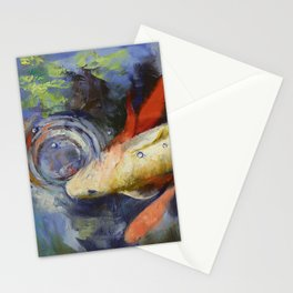 Koi and Water Ripples Stationery Cards