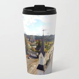 Church and Sky Travel Mug
