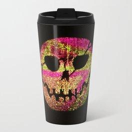 Glow Skull pink & gold Travel Mug