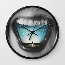 Shout out your dream Wall Clock